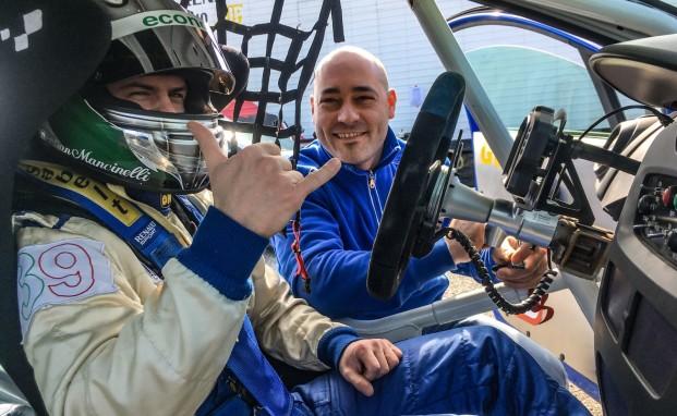Christian Mancinelli al via della Clio Cup Italia con Melatini Racing