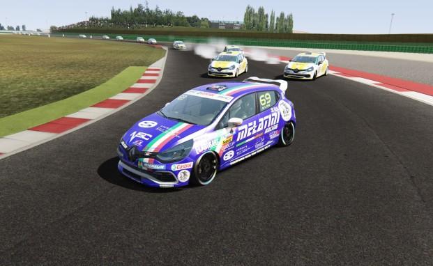 Stefano Zeni torna al vertice con Melatini Racing nella Clio Cup eSport Series